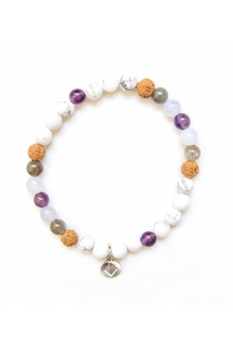 Air Wisdom Bracelet with natural stones of Mukhas Collection