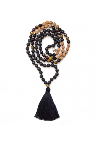 Fire Strength Mala with natural stones of Mukhas Collection