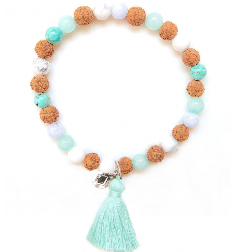 Mermaid Pulsera Japa Mala de Piedras Naturales de Mukhas Collection