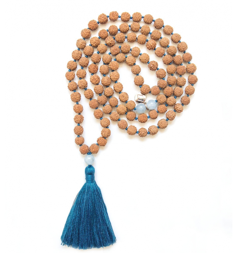 Spiritual Aura Mala para yoga y meditación de Mukhas Collection