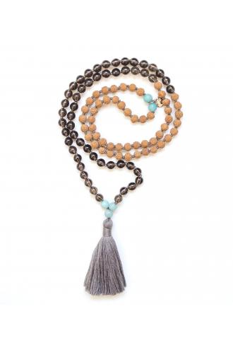 I Feel Positive Mala for yoga and meditation