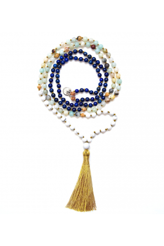 Be Authentic Mala with authentic gemstones and rudrani of Mukhas