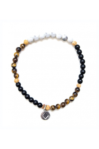 Be Fierce Pulsera con piedras naturales auténticas de Mukhas Collection