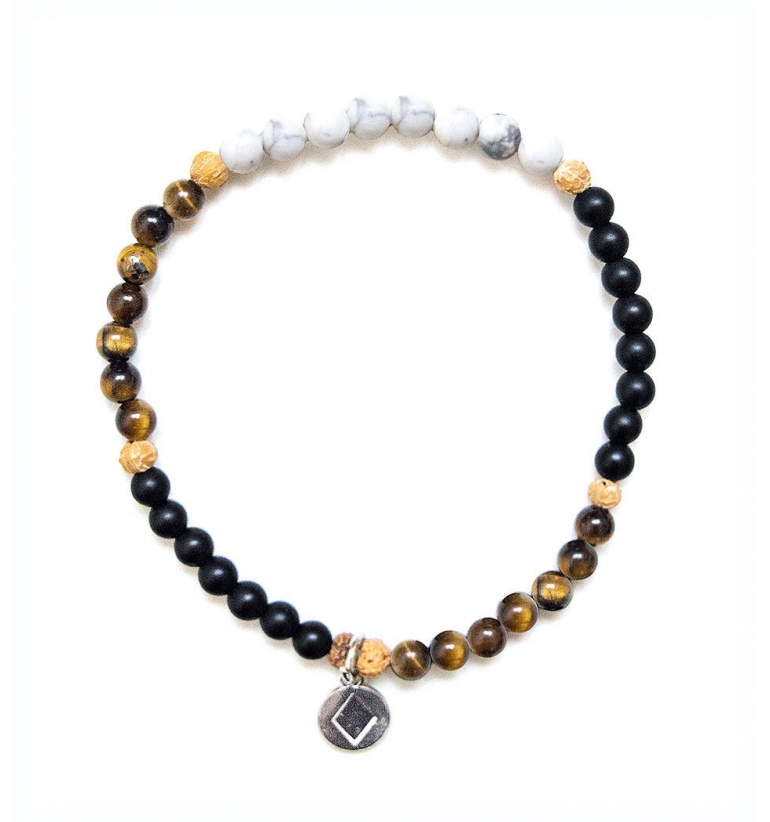 Be Fierce Bracelet with authentic gemstones of Mukhas Colellection