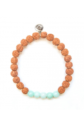 Bali Coast pulsera de piedras naturales y Rudraksha de Mukhas Collection