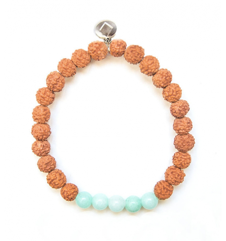 Bali Coast Bracelet with natural stones and rudraksha of Mukhas Collection