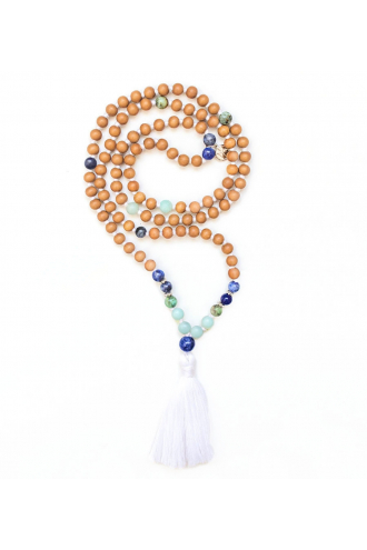 Serendipity Mala with authentic gemstones and Sandalwood