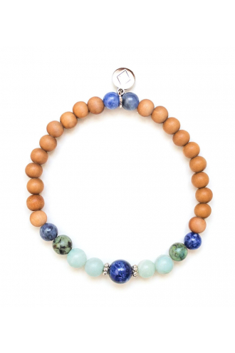 Serendipity Bracelet with Sandalwood and authentic gemstones