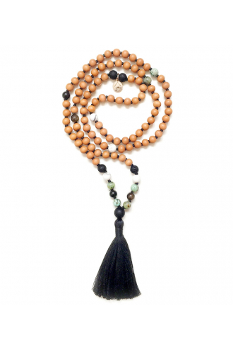 Eternity Mala with Lava and Sandalwood of Mukhas