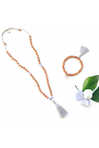 My First Mala for Kids with Natural Gemstones and Sandalwood