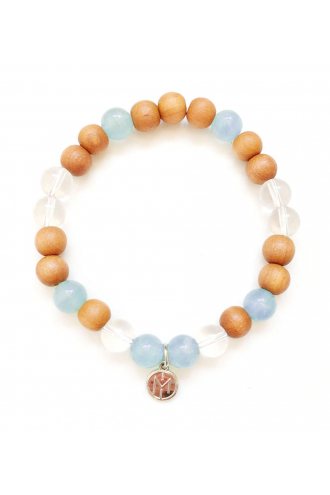 Talisman: Life Flow Bracelet with Sandalwood and Natural Gemstones