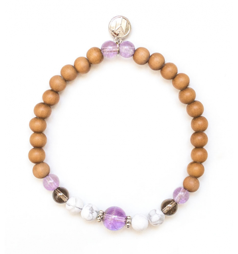 Resilient Bracelet with Sandalwood and authentic gemstones of Mukhas