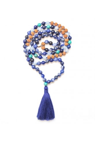 Water Optimism Mala with natural stones of Mukhas Collection