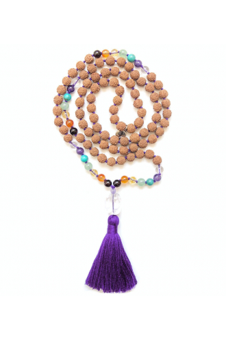 Shanti Chakra Mala Bead for Yoga and Meditation