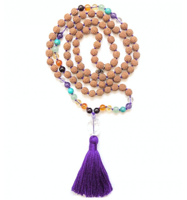 Shanti Chakra Mala Bead for Yoga and Meditation