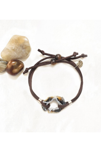 Earth: Geodino Pulsera de piedra natural y Plata de Mukhas Collection