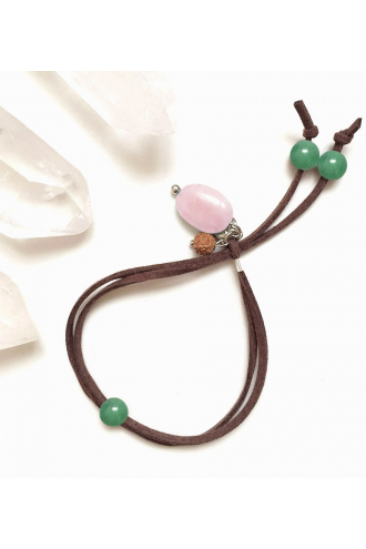 Eclipse Rose Quartz and Green Aventurine Bracelet of Mukhas