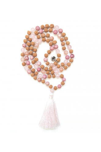 Fairy Mala de piedras naturales y Rudraksha de Mukhas Collection