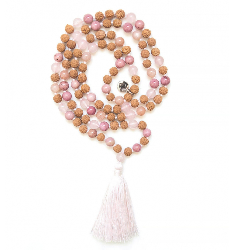 Fairy Mala with natural stones and Rudraksha of Mukhas Collection