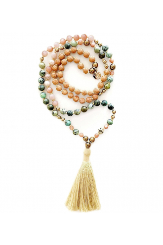 Flora Mala. Mala Bead for yoga and meditation with natural stones