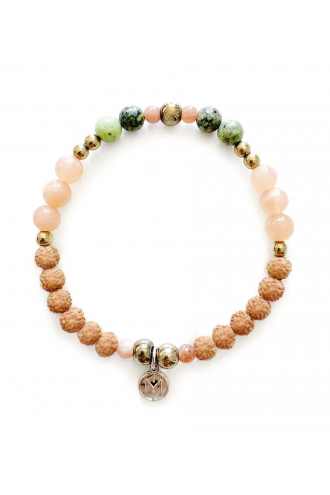 Flora Bracelet. Mala Bead for yoga and meditation with natural stones
