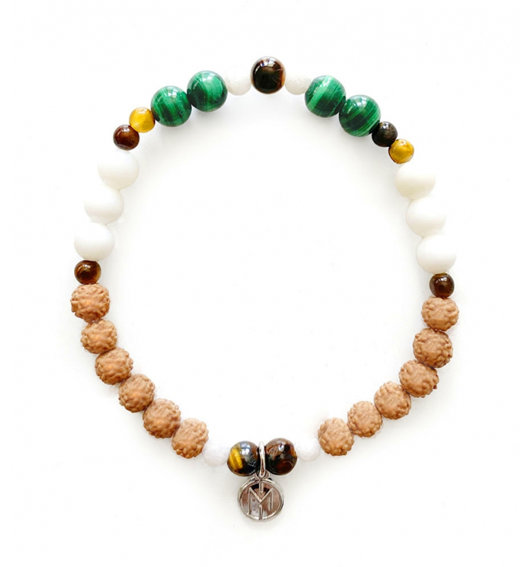 Fauna Bracelet. Mala Bead for yoga and meditation with natural stones