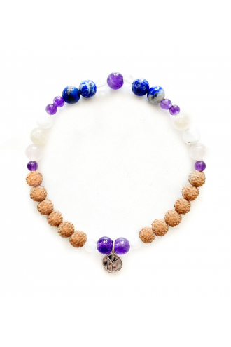 Cosmos Mala. Mala Bead for yoga and meditation with natural stones